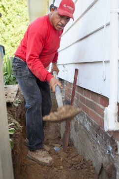 Basement Waterproofing - Digging Foundation