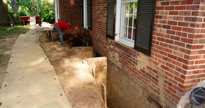 Waterproofing the basement of a residence